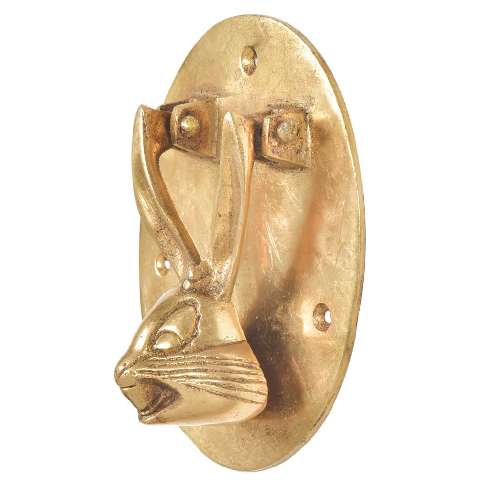 Brass Bunny Face Door Knocker