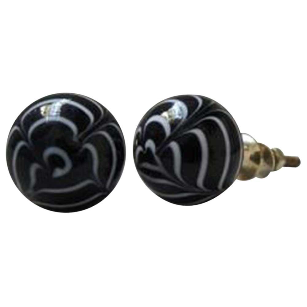 Black & White Striped Knob