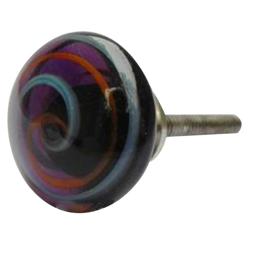 Mixed Striped Glass Knob