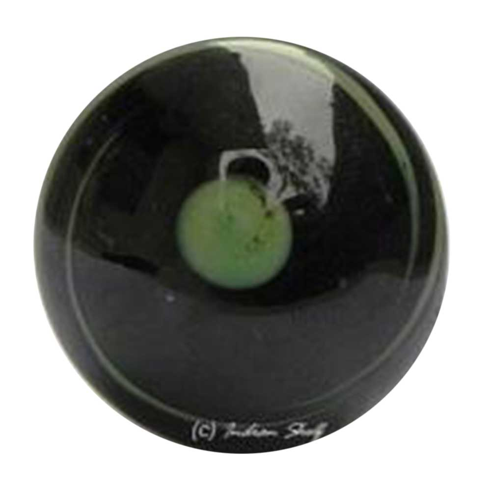 Black with Green Centre Knob