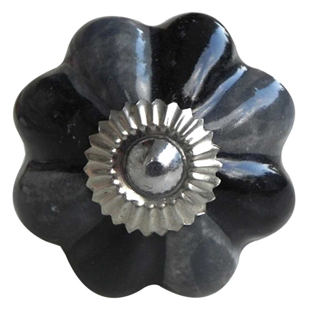 Grey Black Knob