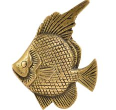 Engraved Design Fish Drawer Pull Knobs
