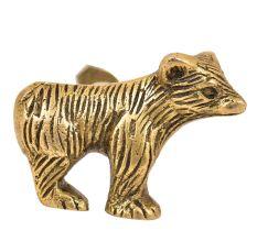 Solid Handmade Brass Bear Cabinet Knob