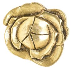 Classic Brass Rose Shaped Drawer Knob