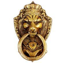 Lion Golden Door Knocker