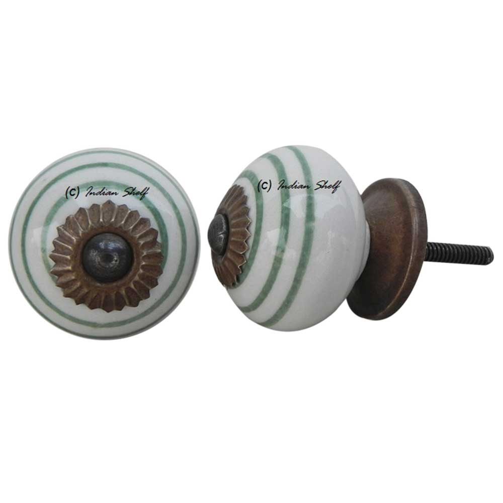 White Smoky Green Knob