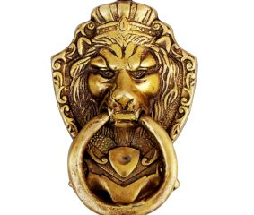 Lion Golden Door Knocker