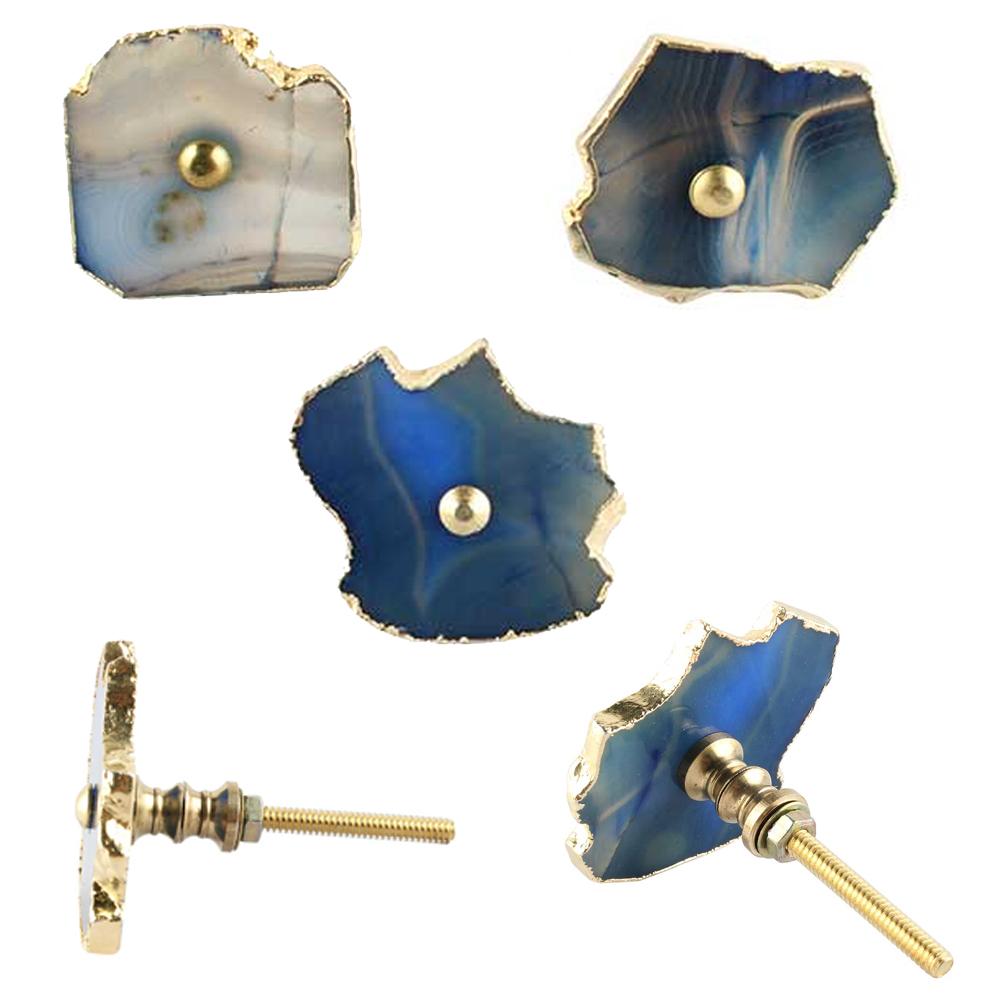 Slate Blue Agate Stone Cabinet Knob Online