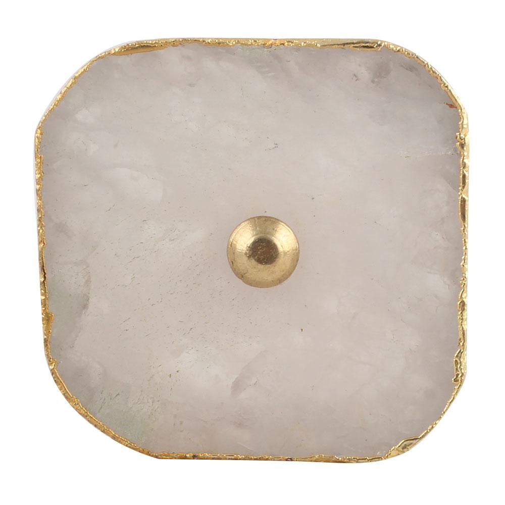 Pink Rose Square Quartz Stone Cabinet Knob Online