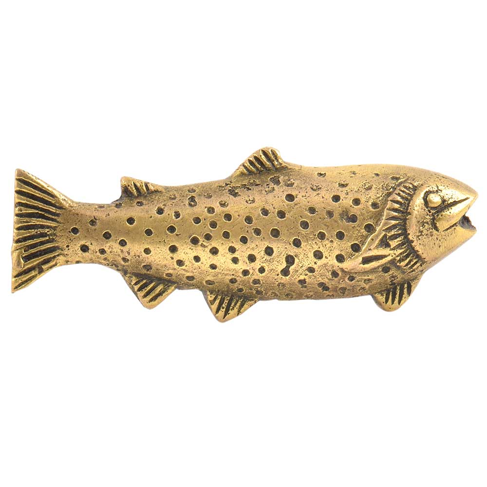 Brass Sealife Handmade Brass Fish Knob