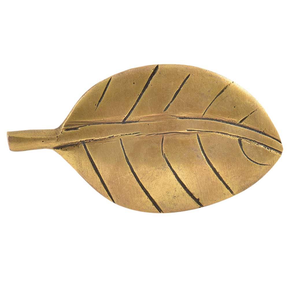 Brass Handmade Leaf Shaped Cabinet Door Pull Knob