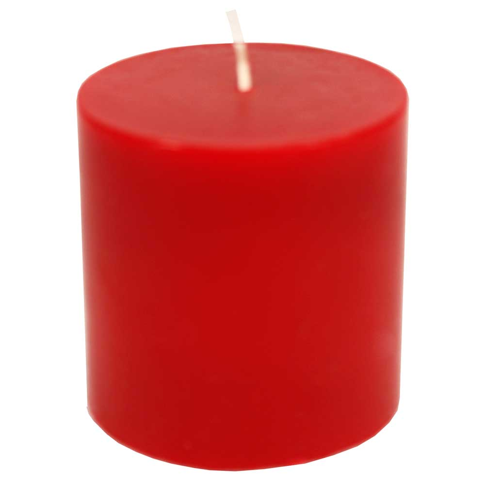 Decorative  Wax Candle In Red