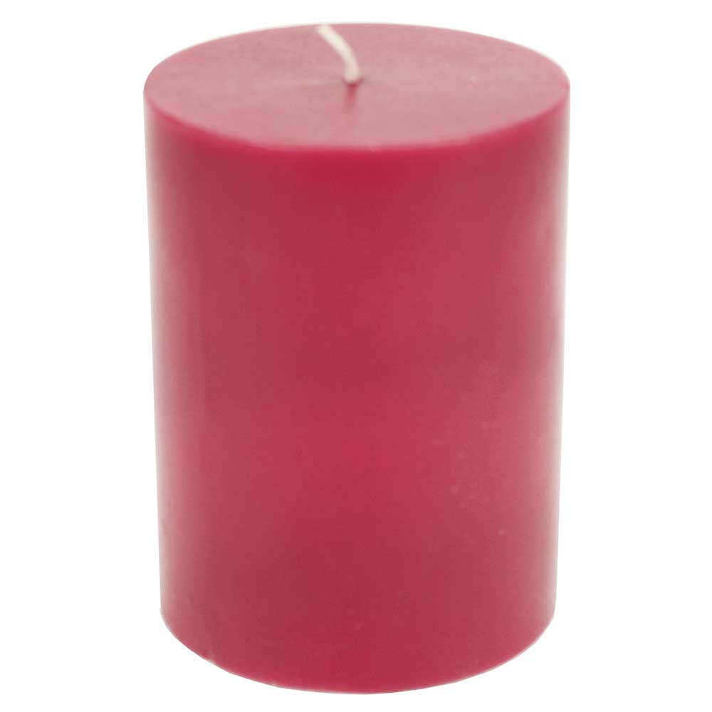 Decorative  Wax Candle Dark Red