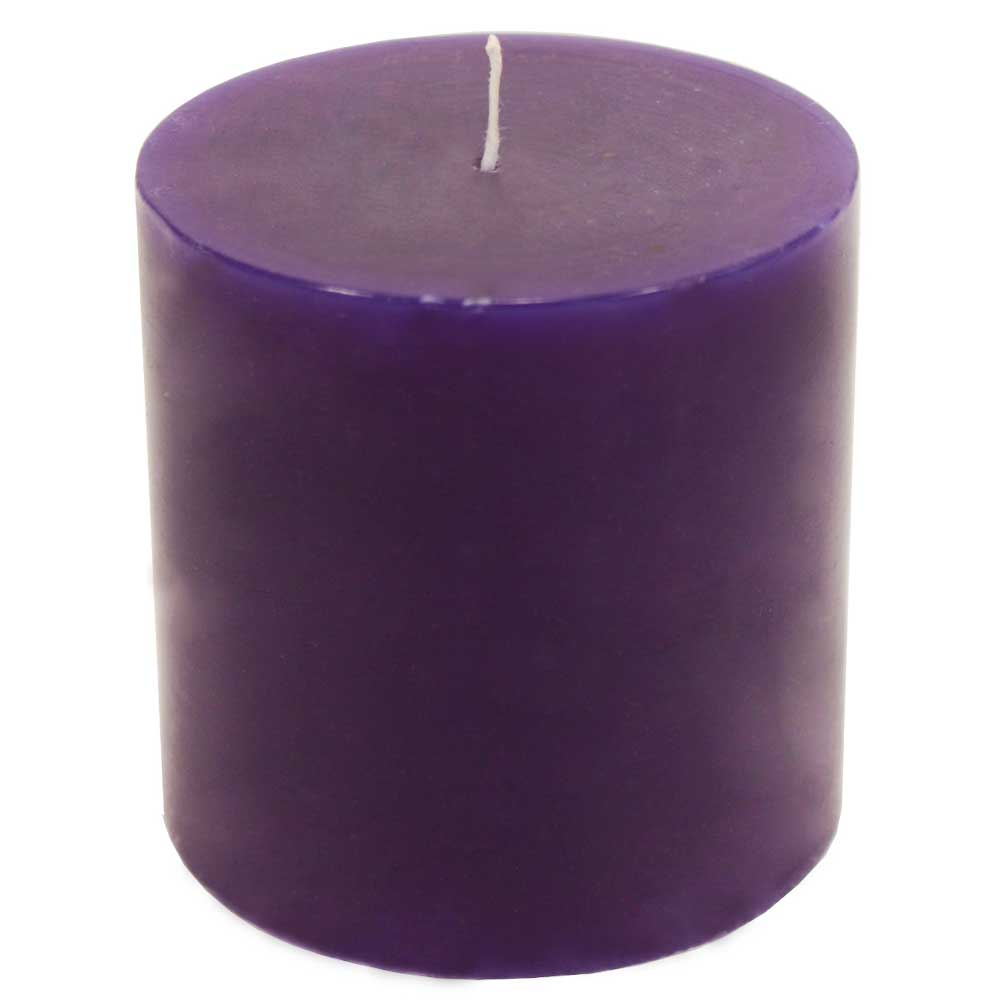Decorative  Wax Candle In Brinjal