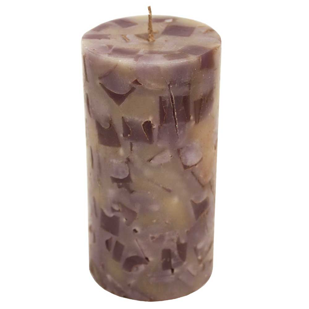 Decorative  Wax Candle In Grey