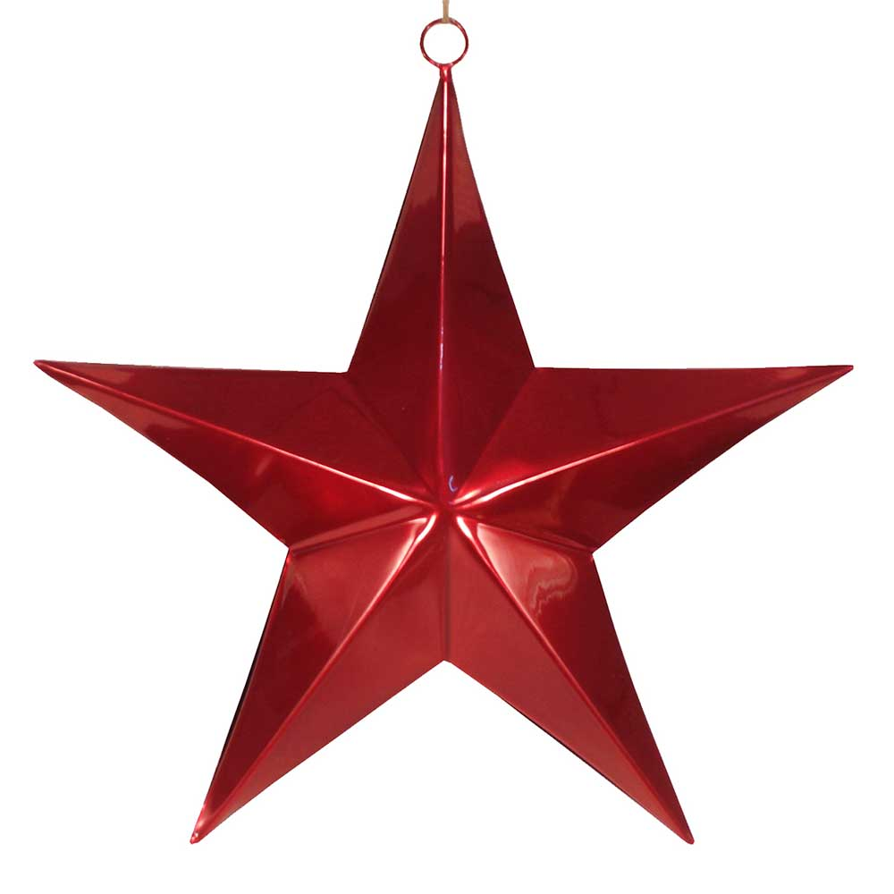 Iron Hanging Star In Red