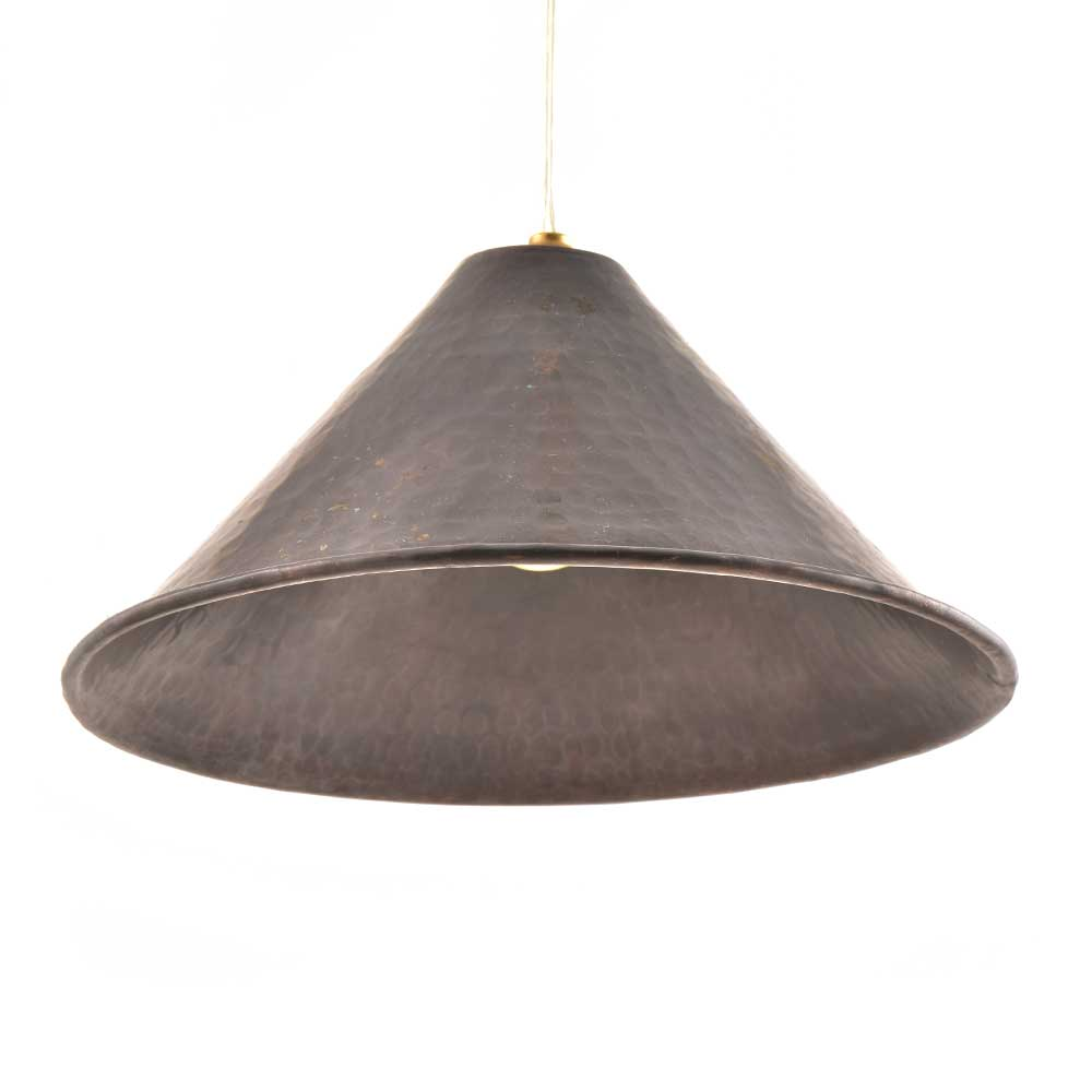 Black Conical Shaped Rustic Metal Lamp Shade