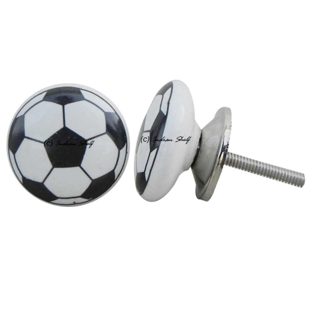 Soccer Ceramic Knob