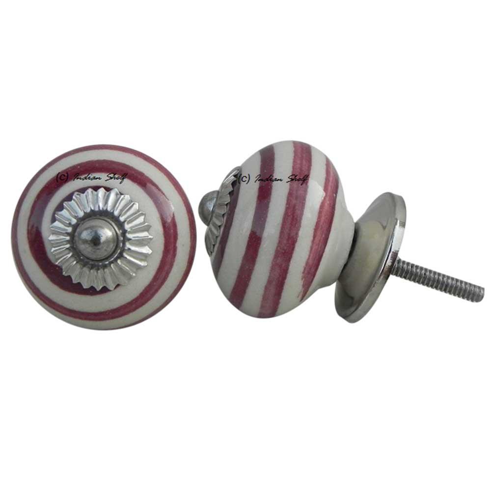 Old Cherry Striped Knob