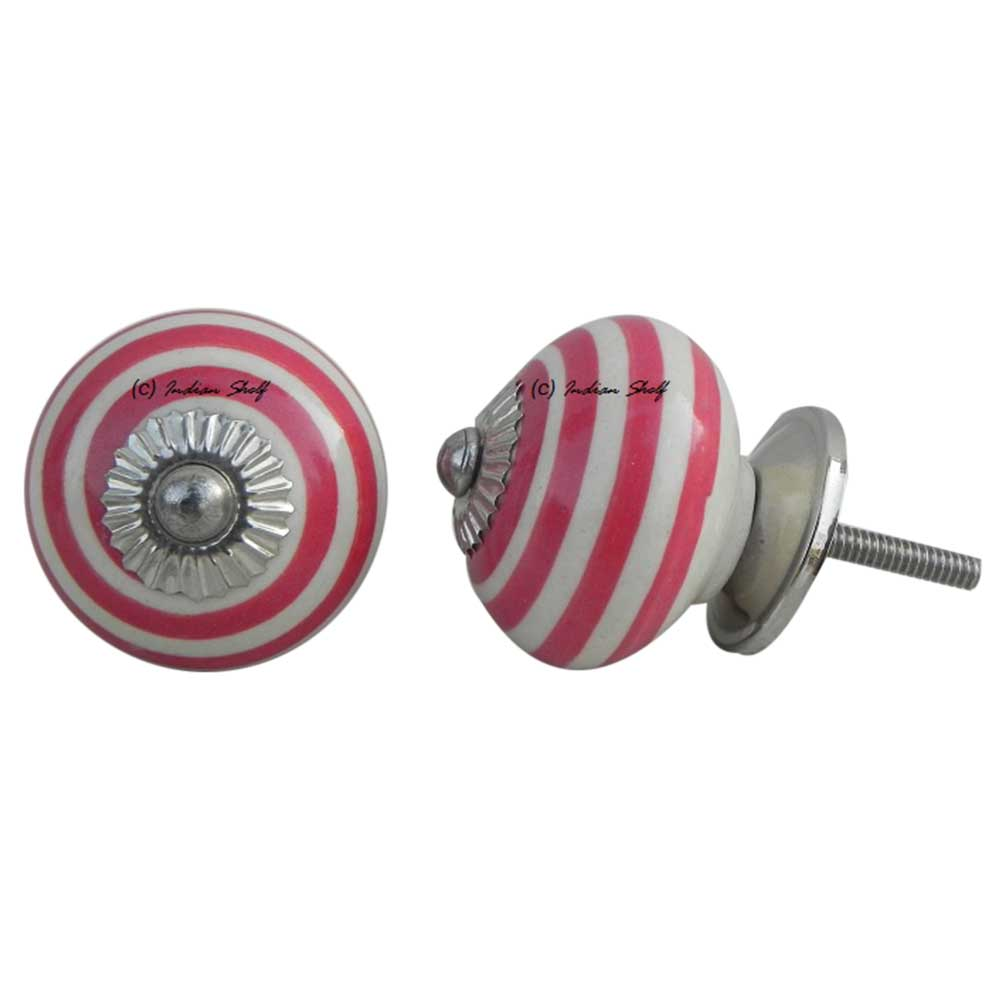 Old Red Striped Knob