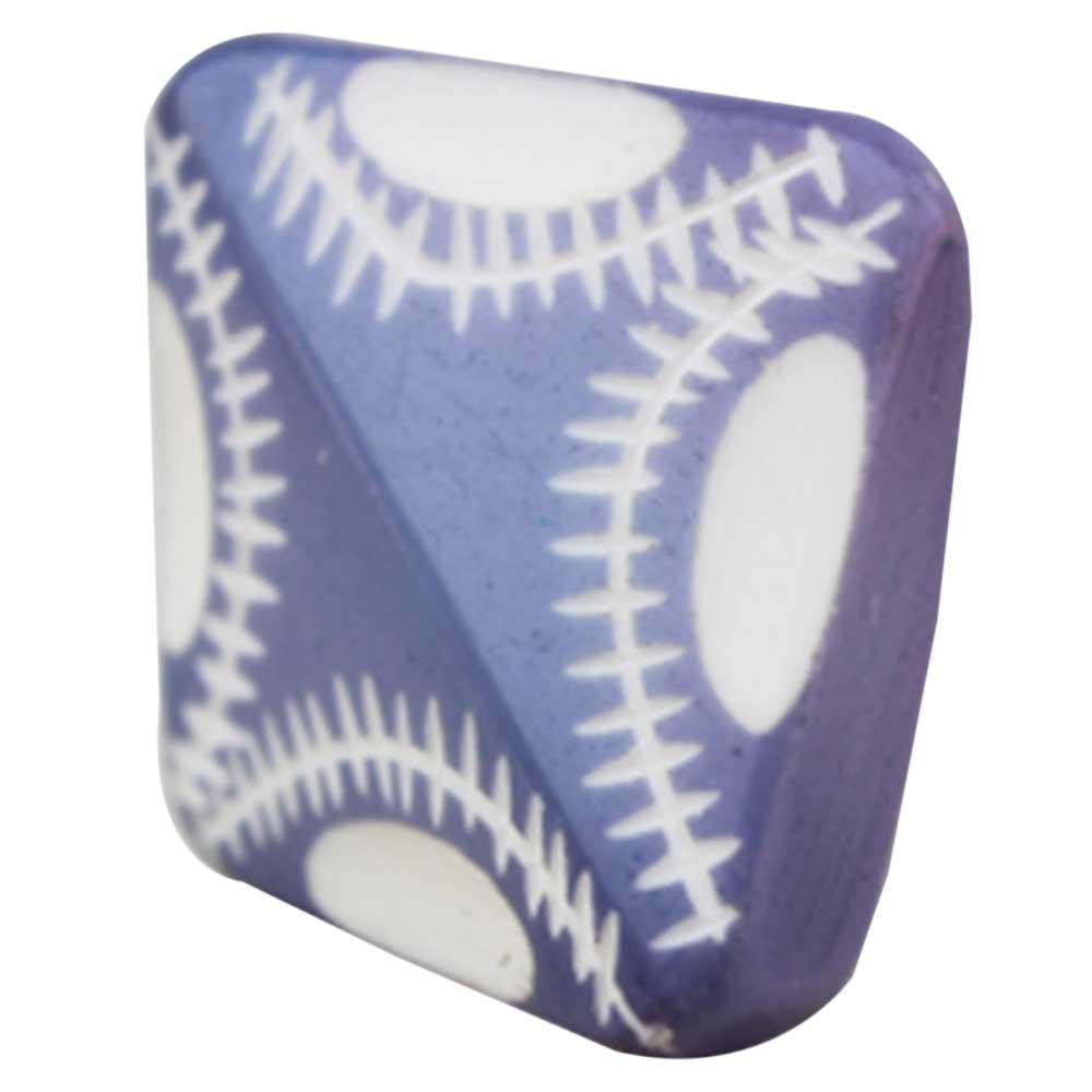 Washed Blue Square Knob