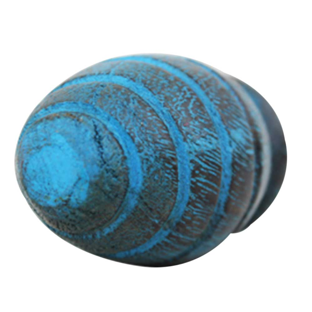 Turquoise Beetel Wooden Knob