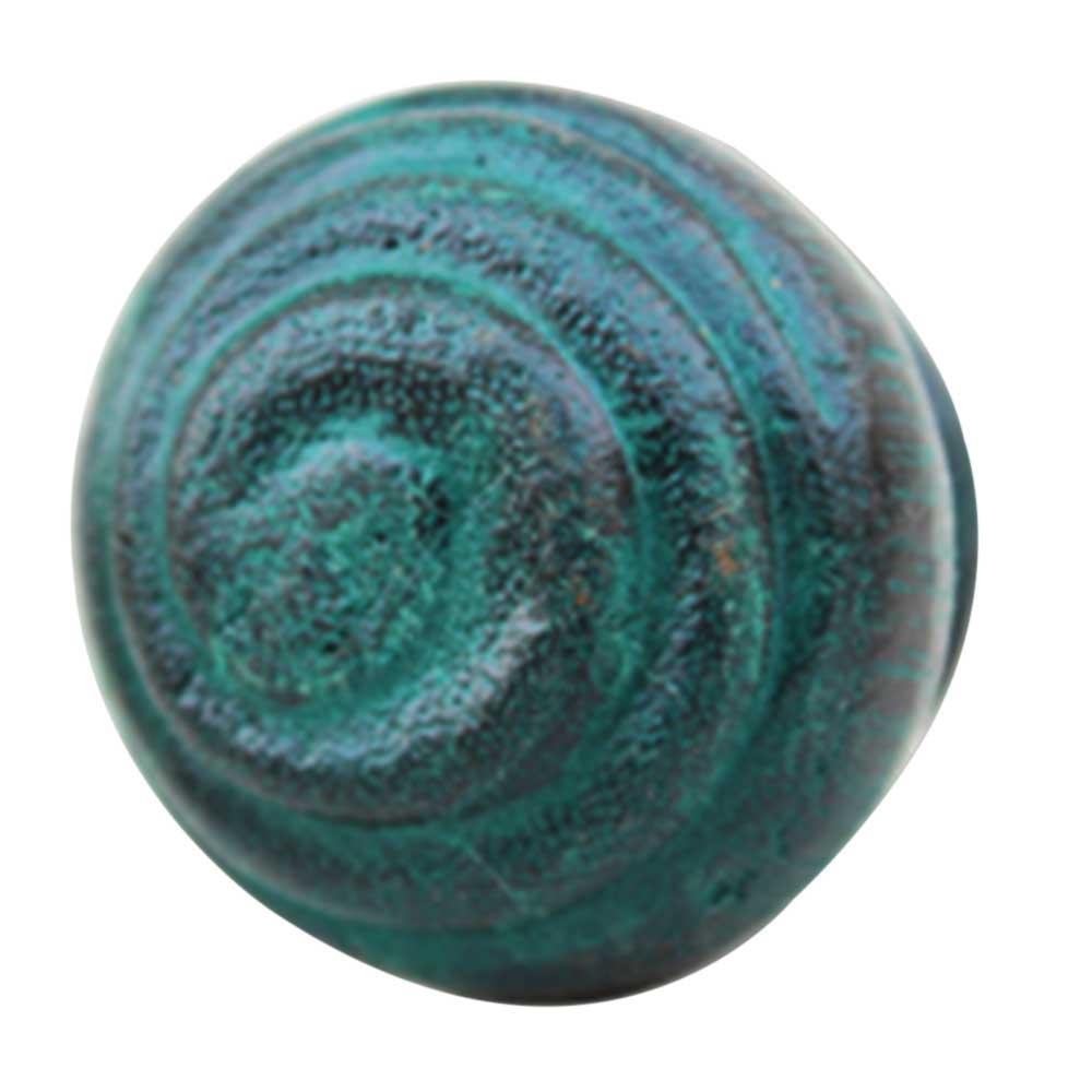 Green Spiral Wooden Knob