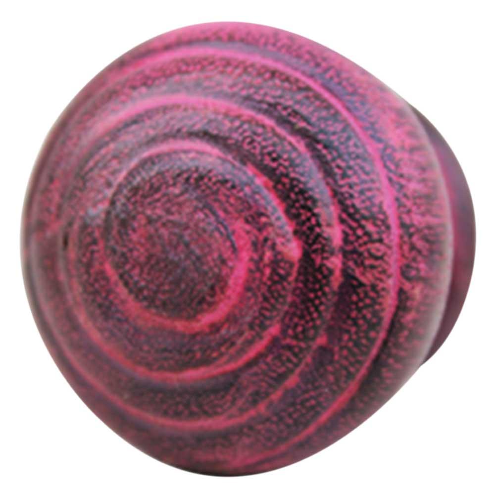 Pink Spiral Wooden Knob
