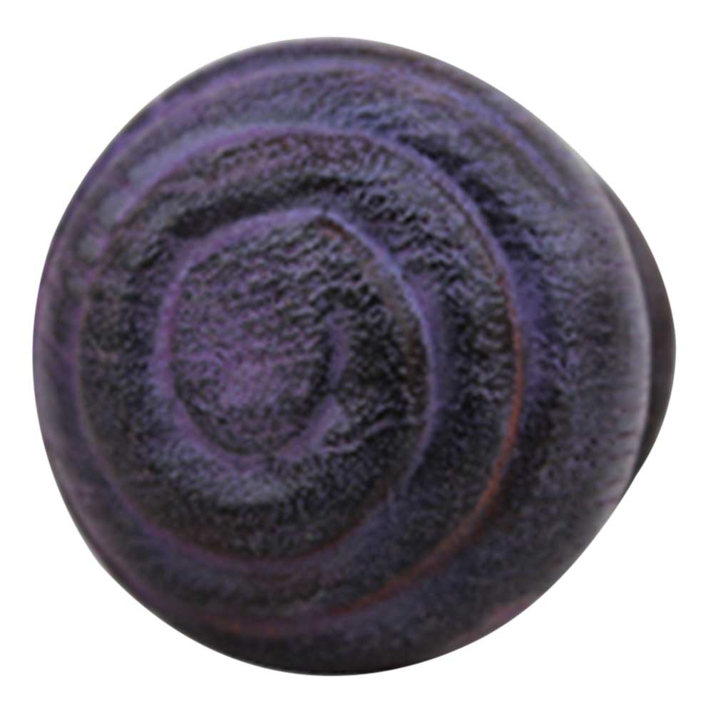 Purple Spiral Wooden Knob
