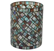 Glass Flower Vase In Multicolour