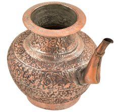Copper Hand Engraved Floral Engraved Islamic Style Holy Water Pot
