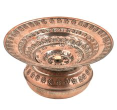 Copper Home Decor Spitoon Bowl With Lid