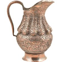 Vintage Repouss� Copper Water Jug