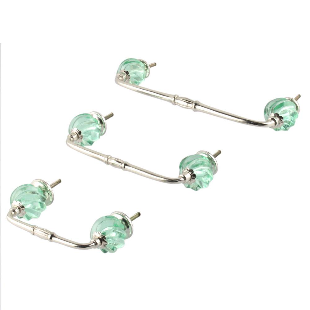 Mint Interior Cut Glass Bridge Handle