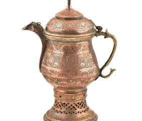 Hand Engraved Kashmiri Copper Samovar Kettle