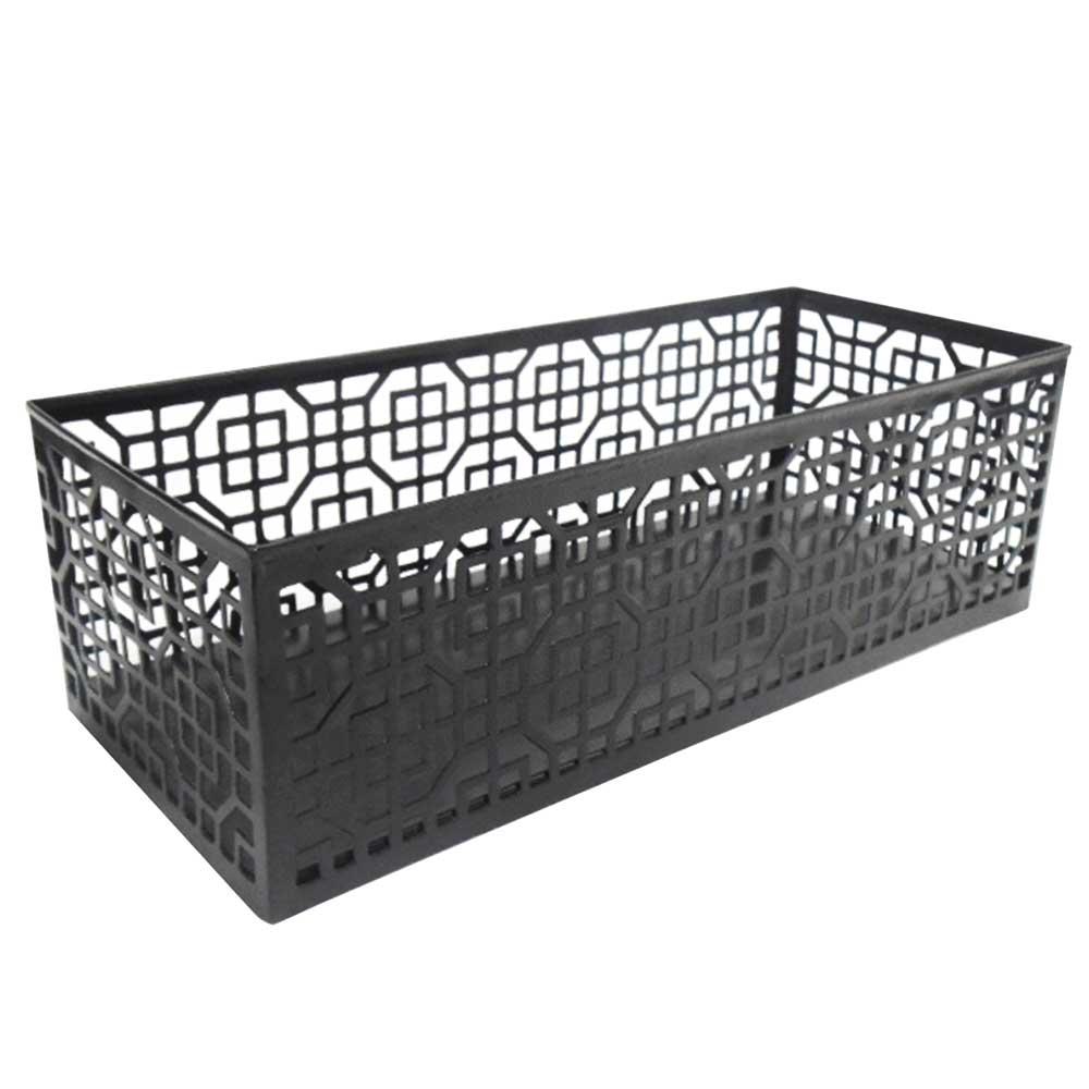 Metal Basket In Black