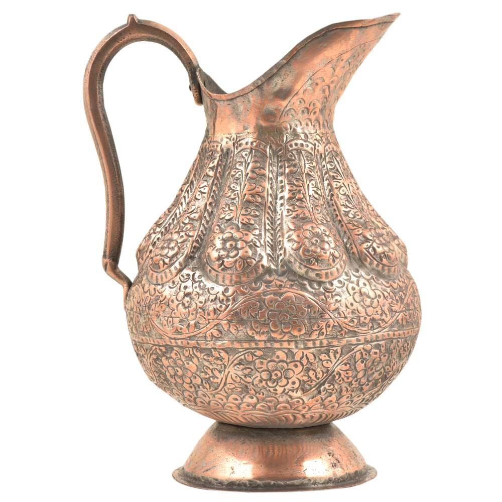 Handcrafted�Ornate Repousse Brass Copper Pitcher�Jug