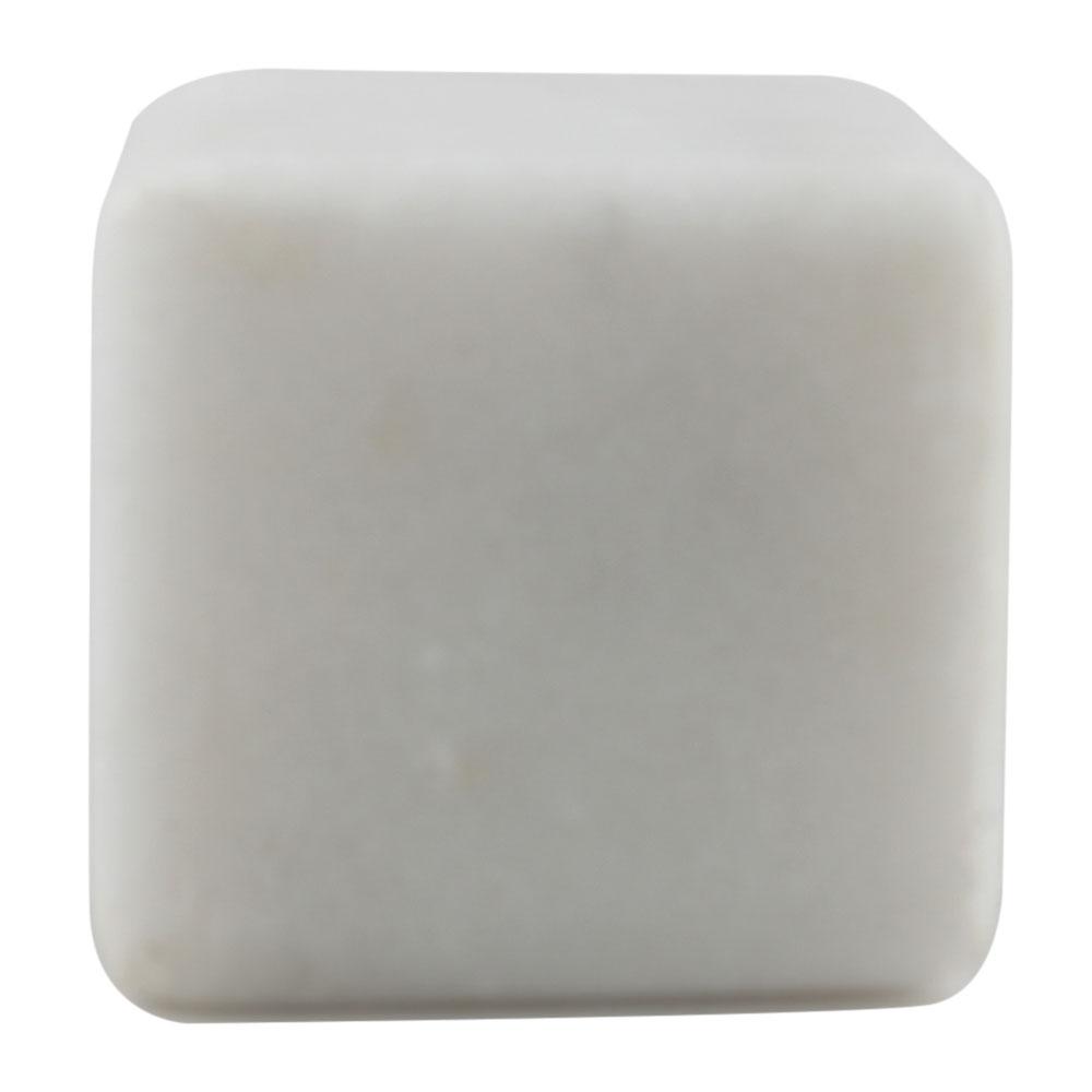 White Stone Square Dresser Knobs Online