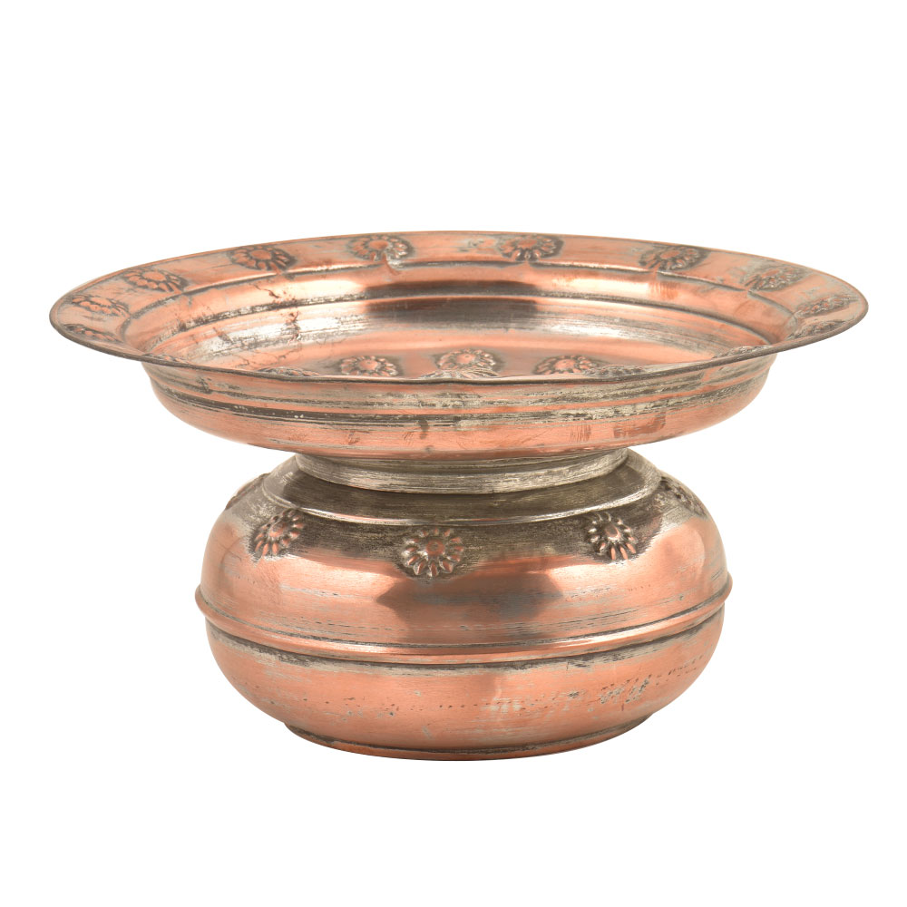 Copper Home D�cor Spitoon Bowl With Lid
