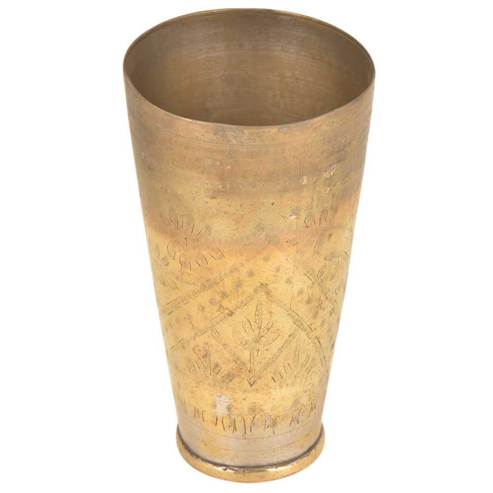 Vintage North Indian Brass Lassi Glass