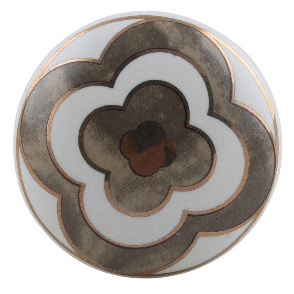 Golden Floral Ceramic Dresser Knobs Online