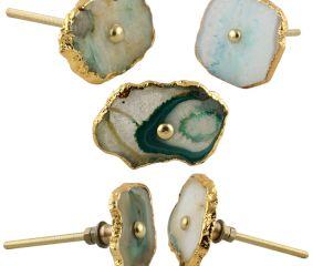 Aqua Green Agate Stone Cabinet Knobs Online