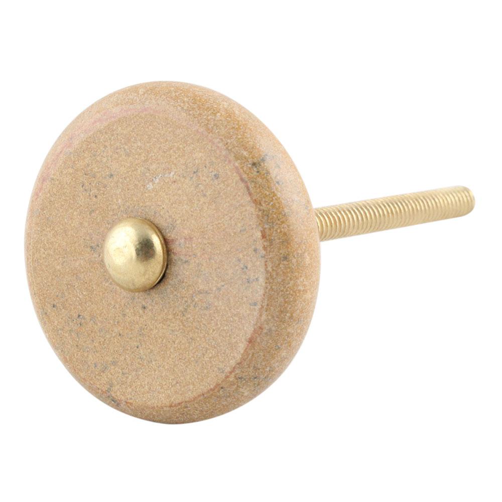 Brown Stone Flat Cabinet Knob Online