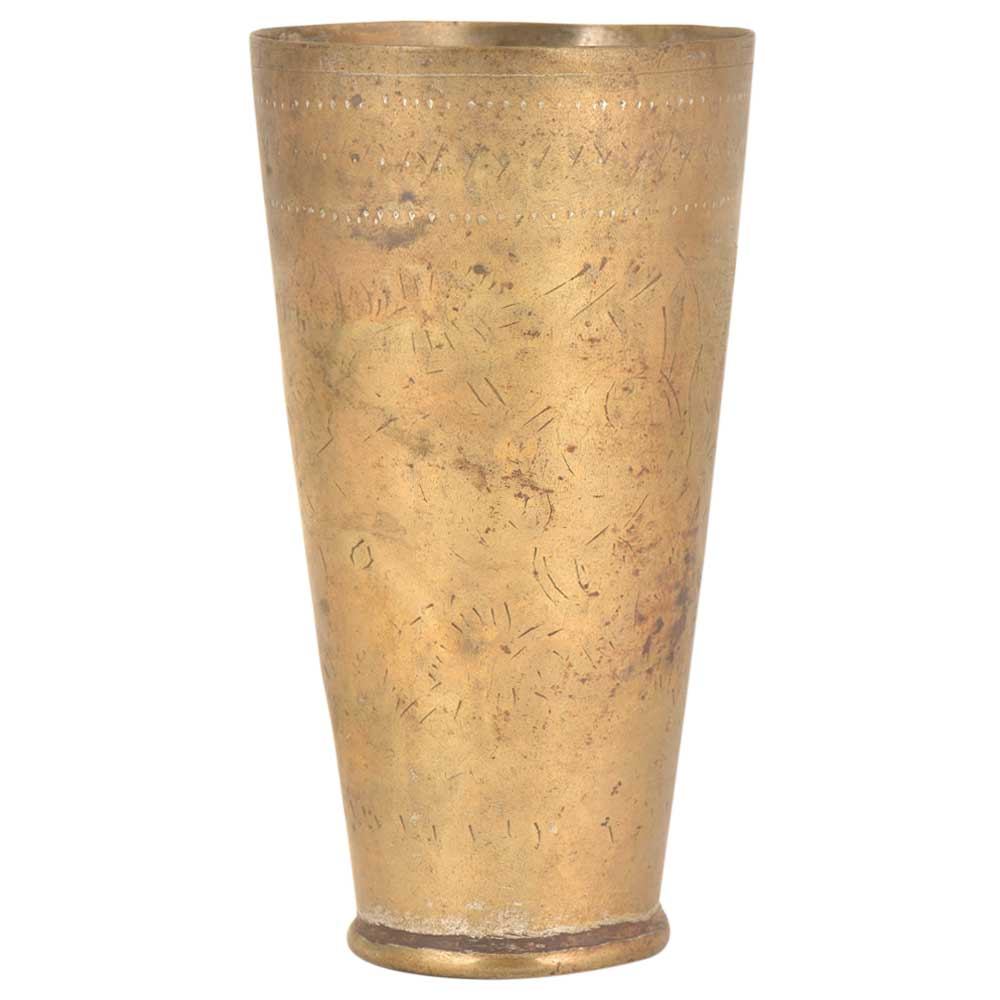 Old Brass Lassi Glass Indian Kitchen Tumbler
