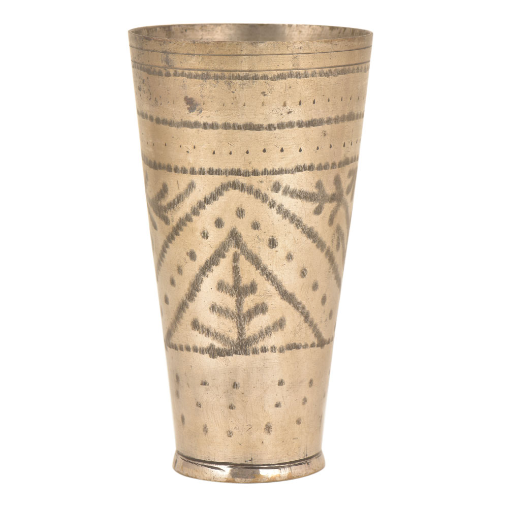 Traditional Brass lassi Glass Decorative North Indian Tableware