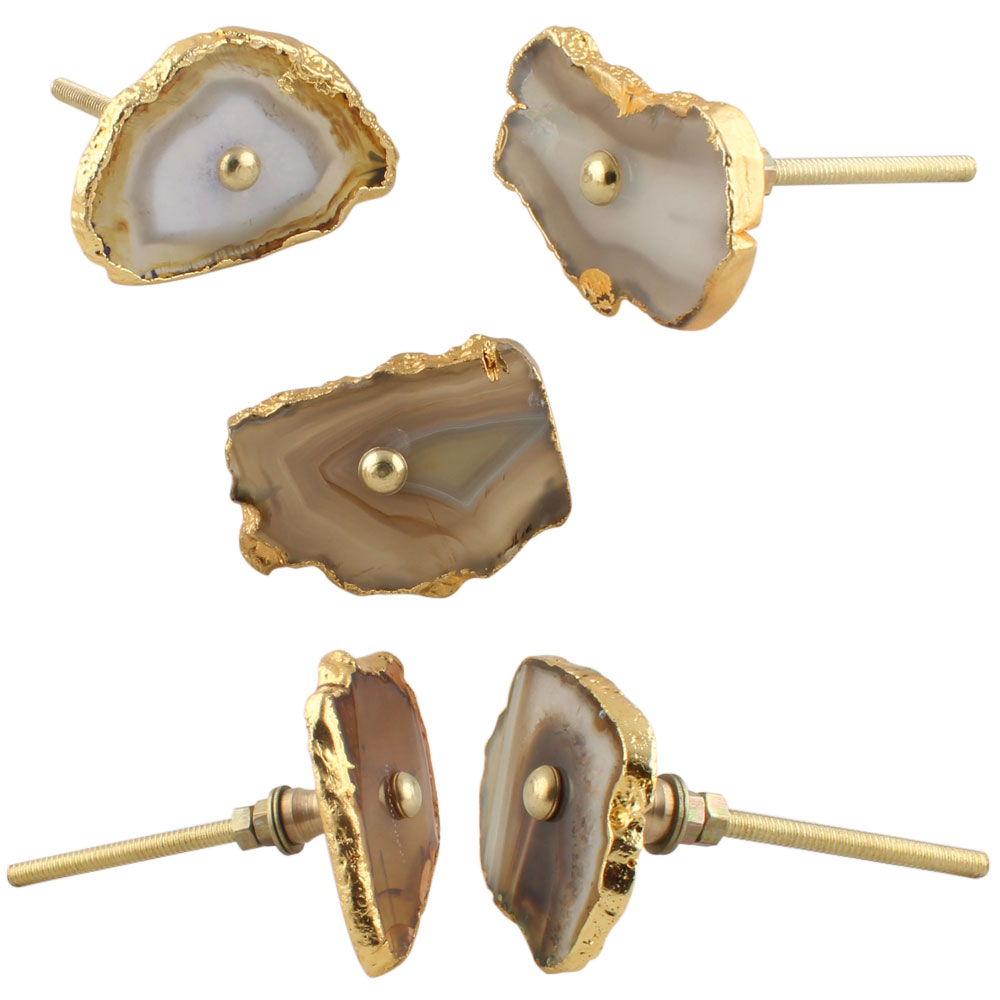 Brown Agate Stone Cabinet Knobs Online