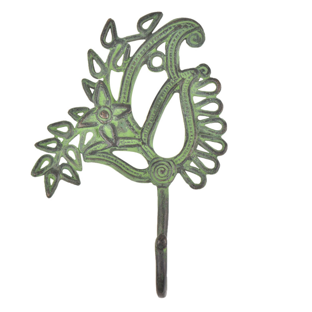 Hand Crafted Brass Parsley and Leaf Wall Hook