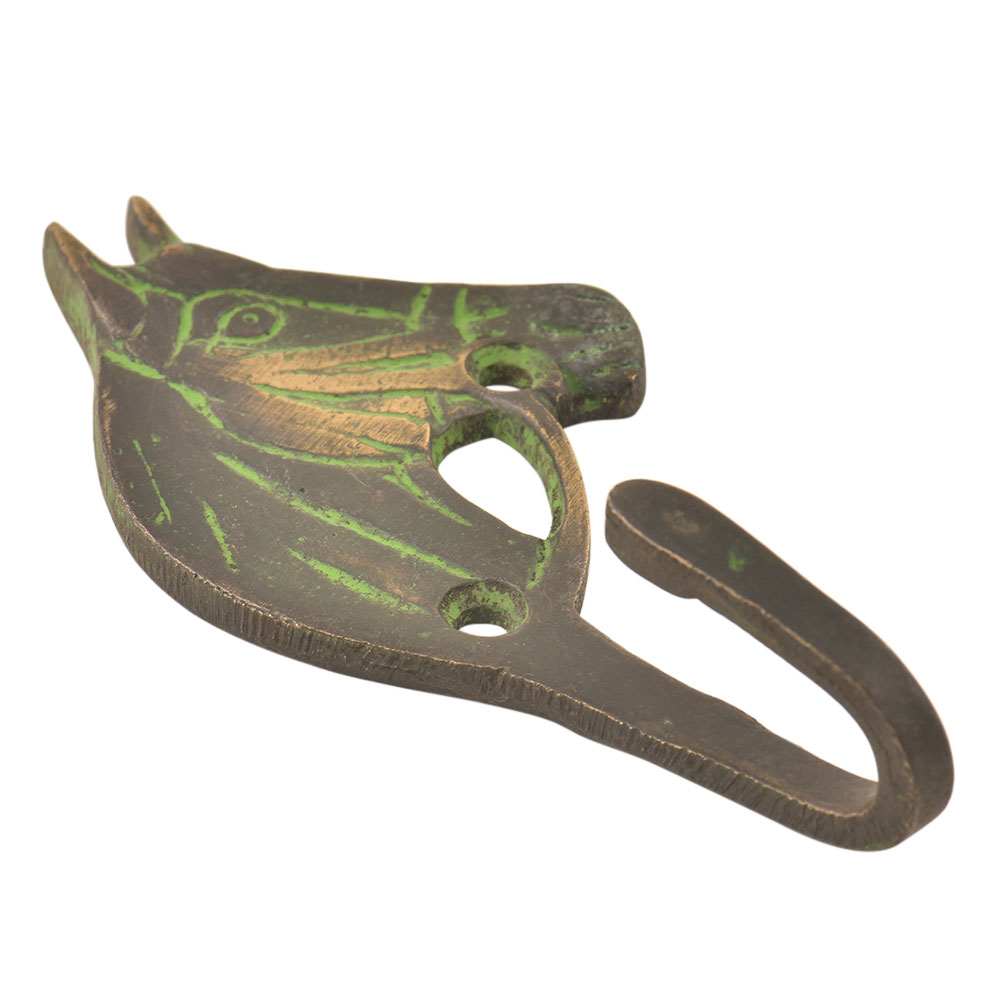 Black Brass Western Horse Wall Hooks With Patina
