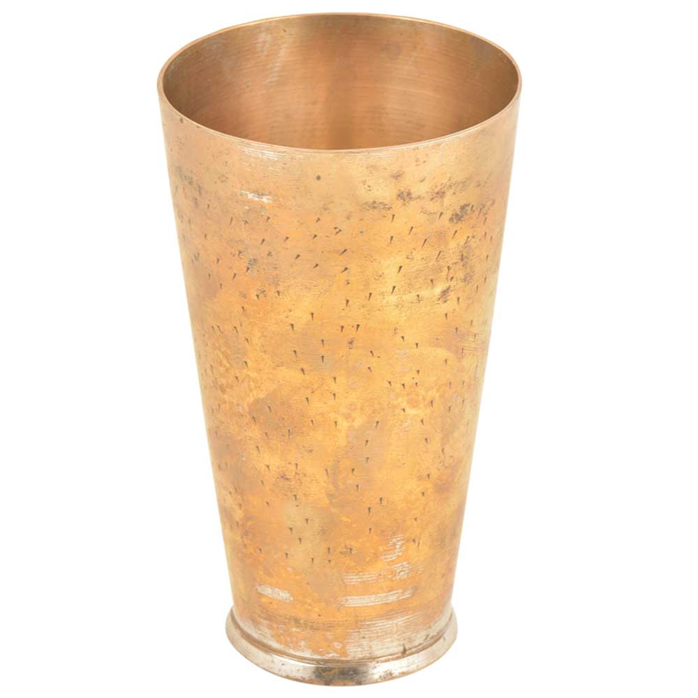 Lassi Glass North Indian Brass Hand Carved Glass