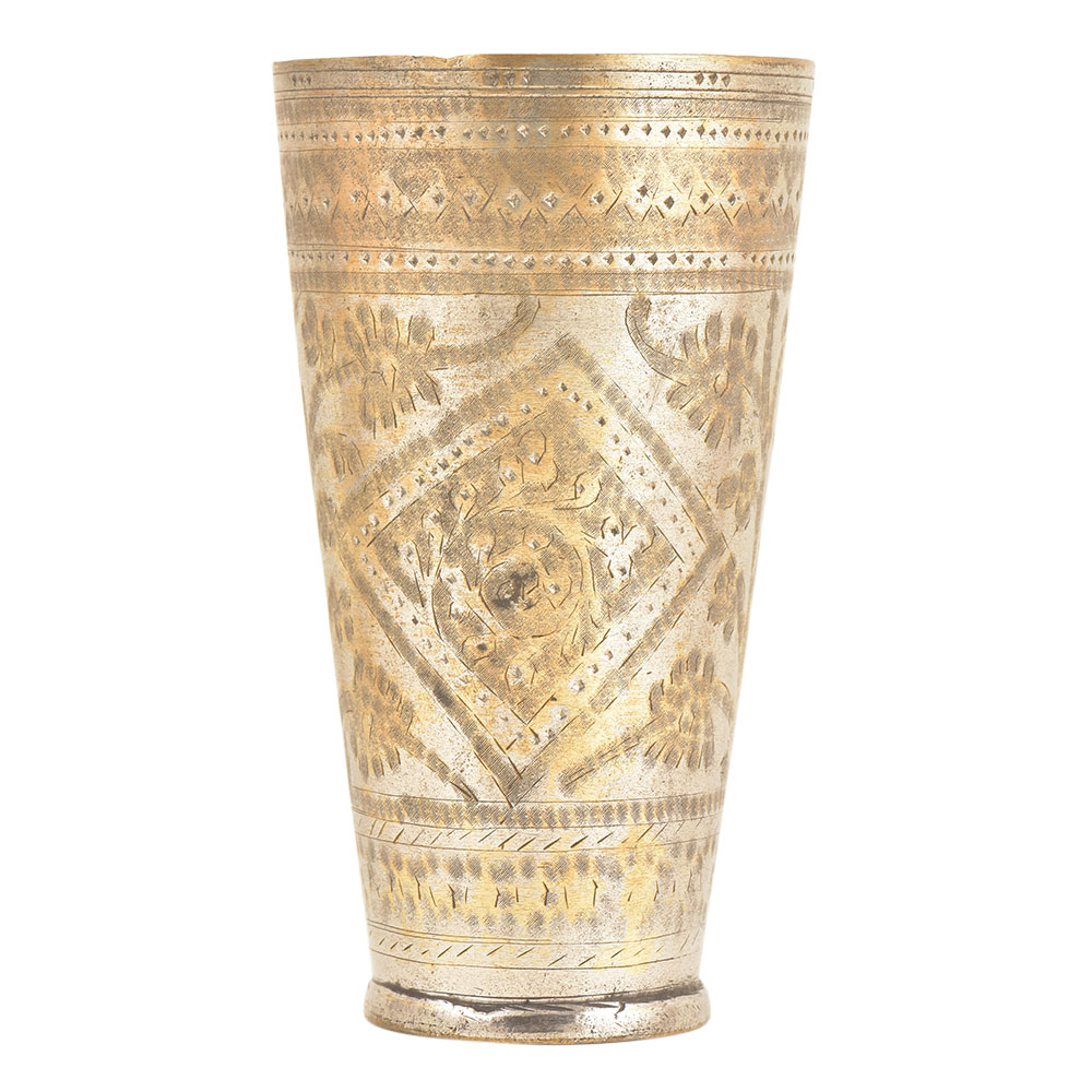 Floral Pattern Design Punjabi Lassi Cup Or Glass